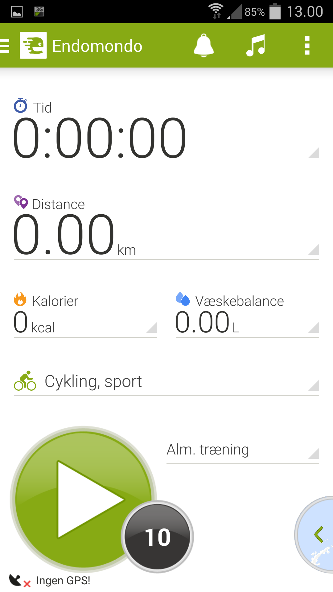 Endomondo-traening