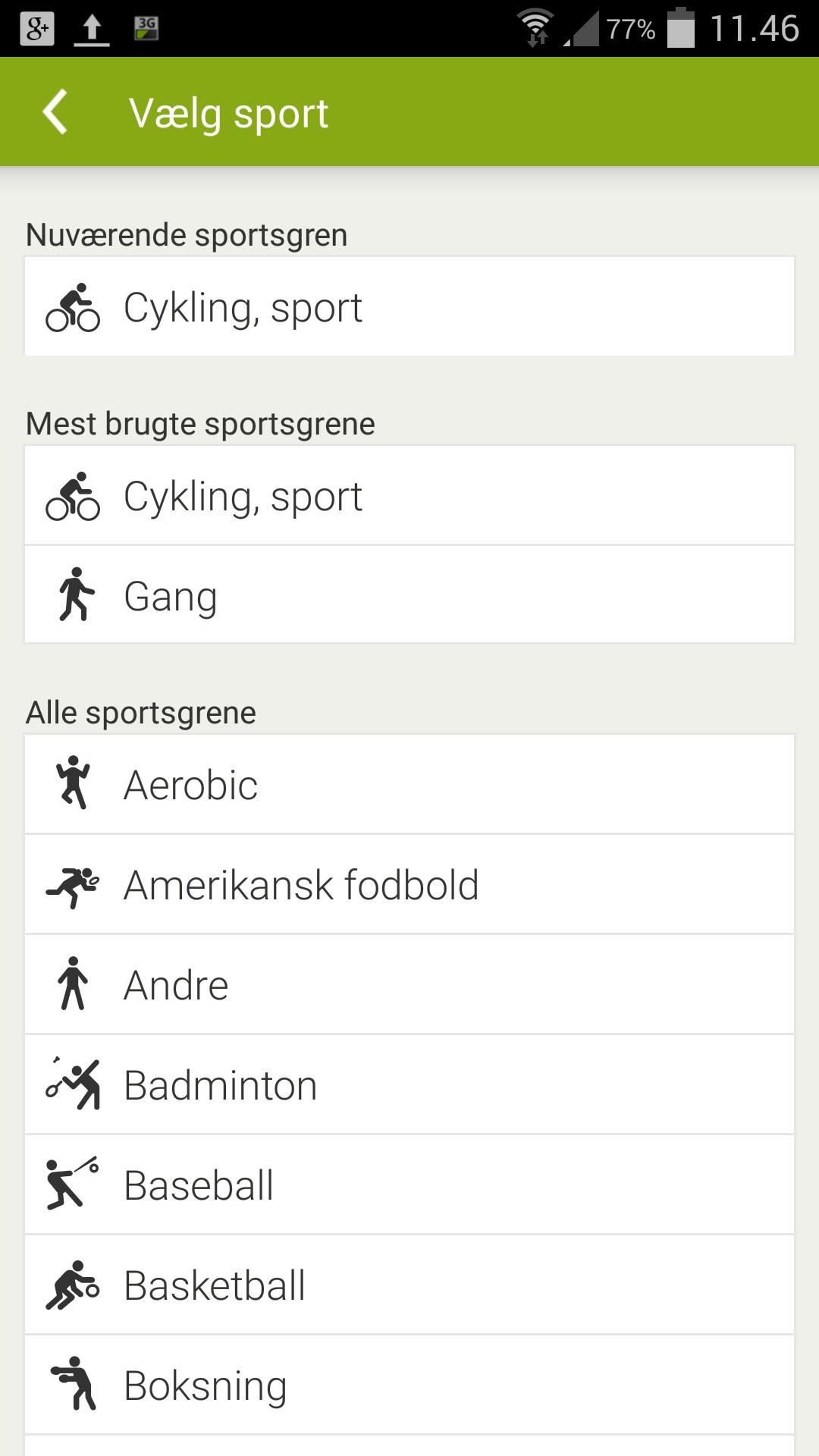 Endomondo-valg-sport