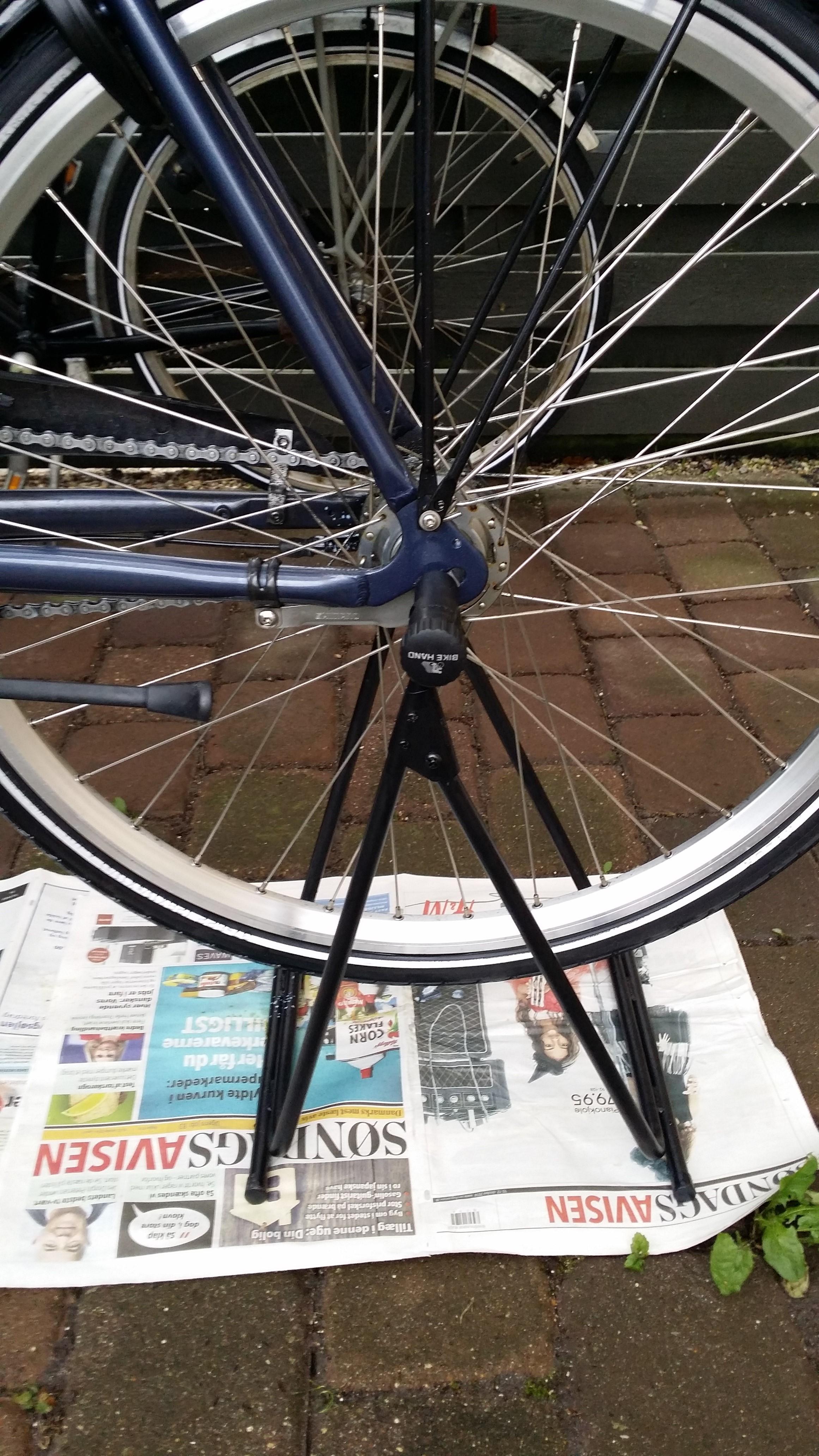 Cykel på cykelholder!